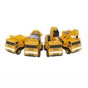 Mota 4-Piece Mini Construction Trucks Toy Set, Yellow (YLLWCAR-SET4)