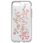 "speck 79985-5754 Presidio Polycarbonate Print Case for 5 1/2"" Apple iPhone 7 Plus, Clear/Golden Blossoms Pink"