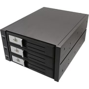 "Syba 3 1/2"" 3-Bay SATA/SAS Internal Hard Drive Enclosure, Black (SY-MRA35029)"