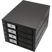 "Syba 3 1/2"" 4-Bay SATA/SAS Internal Hard Drive Enclosure, Black (SY-MRA35030)"