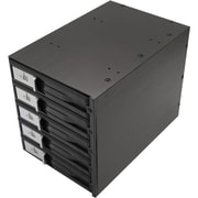 "Syba 3 1/2"" 5-Bay SATA/SAS Internal Hard Drive Enclosure, Black (SY-MRA35031)"