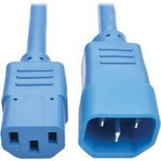 Tripp Lite 3' IEC-320-C14 to IEC-320-C13 Male/Female Standard Computer Power Extension Cord, Blue (P004-003-ABL)