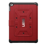 "Urban Armor Gear UAG-IPDAIR2-RED-VP Polycarbonate/TPU Folio Case for 9.7"" Apple iPad Air 2, Black/Magma"