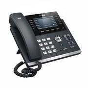 """Yealink SIP-T46G 16-Line Ultra-Elegant Gigabit IP Phone with 4.3"""" Color Display, Black"""
