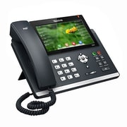 "Yealink SIP-T48G 16-Line Ultra-Elegant Gigabit IP Phone with 7"" Color Touch Screen, Black"