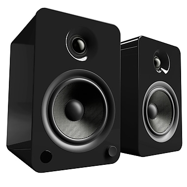 Kanto YU6 Powered Speakers with Bluetooth and Phono Preamp, Gloss Black