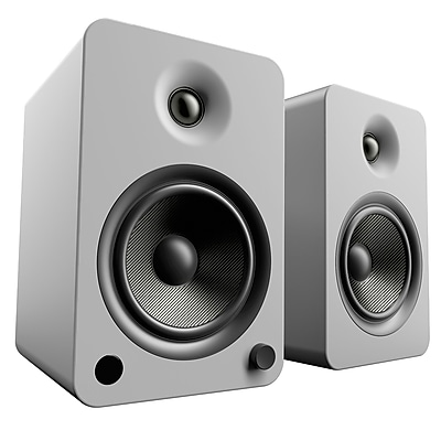 Kanto YU6 2-Way Powered Speakers with Bluetooth and Phono Preamp, Matte Grey