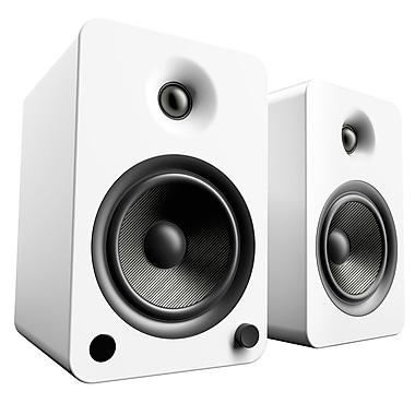 Kanto – Haut-parleurs Bluetooth YU6 amplifiés 200 W, blanc mat (YU6MW)