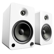 Kanto YU6 Powered Bookshelf Speakers with Bluetooth and Phono Preamp, Matte White