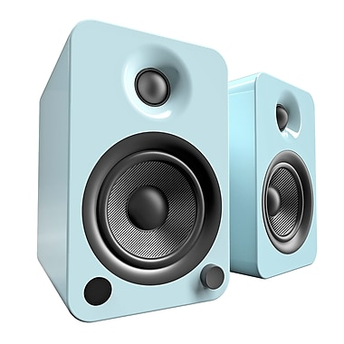 Kanto YU4 2-Way Powered Speakers with Bluetooth and Phono Preamp, Gloss Teal