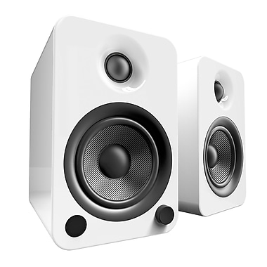 Kanto YU4 Powered 140W Bluetooth Speakers, Gloss White (YU4GW)