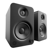 Kanto YU4 Powered Bookshelf Speakers with Bluetooth and Phono Preamp, Matte Black