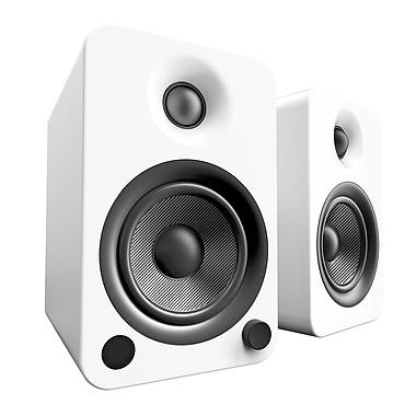 Kanto – Haut-parleurs Bluetooth YU4 amplifiés 140 W, blanc mat (YU4MW)