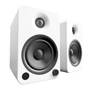 Kanto YU4 Powered Bookshelf Speakers with Bluetooth and Phono Preamp, Matte White