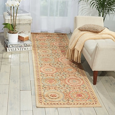 Kathy Ireland Home Gallery Villa Retreat Celestial Elegance Cream Area Rug; 7'9'' x 10'10''