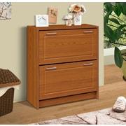 4D Concepts Double 24-Pair Shoe Storage Cabinet; Oak