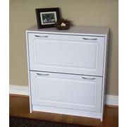 4D Concepts Double 24-Pair Shoe Storage Cabinet; White
