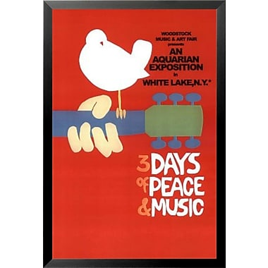 Buy Art For Less 'Woodstock 3 Day of Peace and Music' Framed Vintage Advertisement