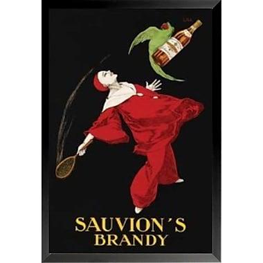 Buy Art For Less 'Sauvion's Brandy' Framed Vintage Advertisement; 36'' H x 24'' W x 1'' D