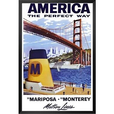 Buy Art For Less 'America Matson Line' Framed Graphic Art; 24'' H x 16'' W x 1'' D