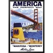 Buy Art For Less 'America Matson Line' Framed Graphic Art; 36'' H x 24'' W x 1'' D