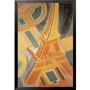 Buy Art For Less 'Eiffel Tower' Framed Painting Print; 18'' H x 12'' W x 1'' D