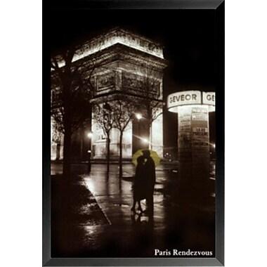 Buy Art For Less 'Paris Rendezvous Kiss' Framed Photographic Print; 24'' H x 16'' W x 1'' D
