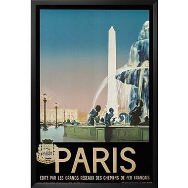 Buy Art For Less 'Paris' Framed Vintage Advertisement; 24'' H x 16'' W x 1'' D