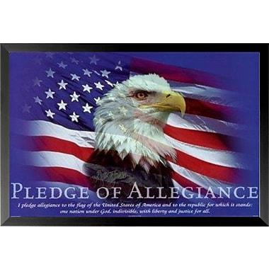 Buy Art For Less 'Pledge of Allegiance' Framed Graphic Art; 16'' H x 24'' W x 1'' D