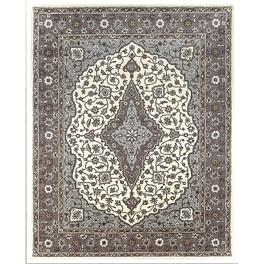 Due Process Stable Trading Co Bidjar Hand-Tufted Sand/Pearl Area Rug; Round 10'