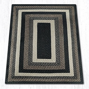 EarthRugs Mocha/Frappuccino Braided Area Rug; 4' x 6'