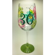 Pat Barker Designs 30th Birthday Wine Glass