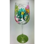 Pat Barker Designs 40th Birthday Wine Glass