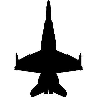 Wallhogs Haynes Silhouette Jet (F18 Hornet) V Cutout Wall Decal; 60'' H x 42'' W