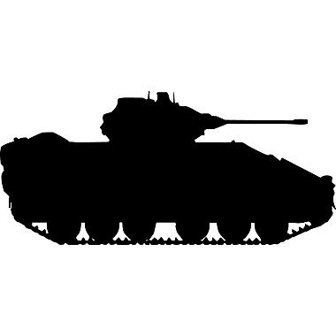 Wallhogs Haynes Military Tank III Silhouette Cutout Wall Decal; 27'' H x 60'' W