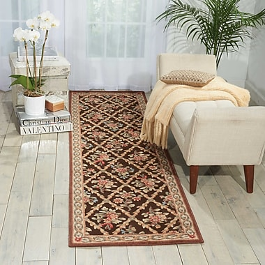 Kathy Ireland Home Gallery Villa Retreat Washington Estate Chocolate Area Rug; Runner 2'3'' x 8'