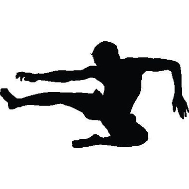 Wallhogs Martial Arts Flying Kick Silhouette Cutout Wall Decal; 34'' H x 60'' W