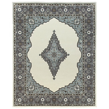 Due Process Stable Trading Co Bidjar Hand-Tufted Sand/Pearl Area Rug; Square 12'