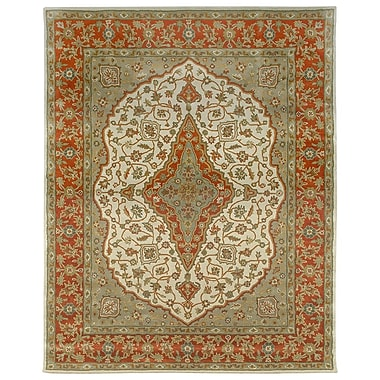 Due Process Stable Trading Co Bidjar Hand-Tufted Sand/Terracotta Area Rug; Square 8'