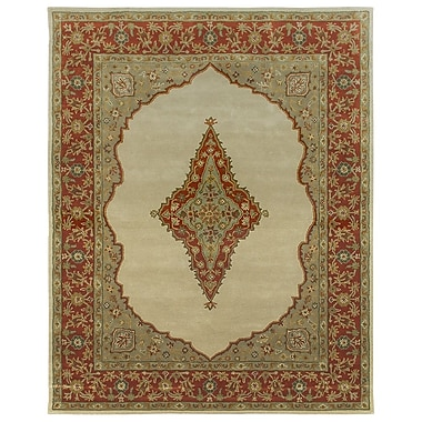 Due Process Stable Trading Co Bidjar Hand-Tufted Sand/Terracotta Area Rug; Rectangle 2'6'' x 4'