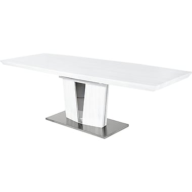Creative Images International Extension Dining Table; White Lacquer