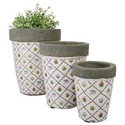 EsschertDesign Botanicae 3-Piece Ceramic Pot Planter Set