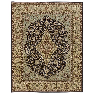 Due Process Stable Trading Co Bidjar Hand-Tufted Midnight/Cream Area Rug; Square 12'