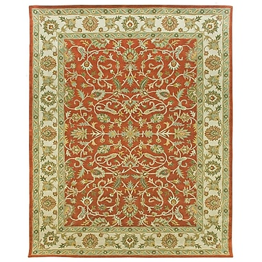 Due Process Stable Trading Co Ziegler Hand-Tufted Terracotta/Sand Area Rug; Square 6'