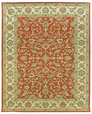 Due Process Stable Trading Co Ziegler Hand-Tufted Terracotta/Sand Area Rug; Square 8'
