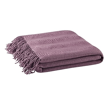 Ink + Ivy Reeve Ruched Throw; Purple