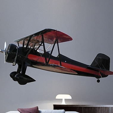 Wallhogs Vintage Biplane II Cutout Wall Decal; 29.5'' H x 60'' W