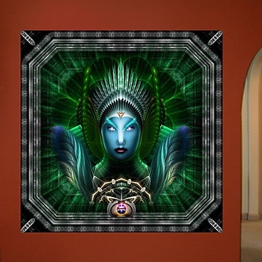Wallhogs Xzendor7 Riddian Queen Emerald Portrait Wall Mural; 24'' H x 24'' W