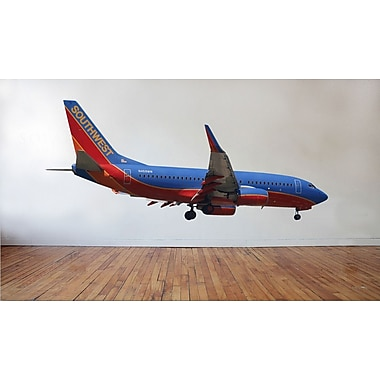 Wallhogs Chibi Southwest 737 Landing Cutout Wall Decal; 15'' H x 36'' W