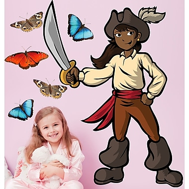 Wallhogs Winn Pirate Girl I Cutout Wall Decal; 36'' H x 27'' W